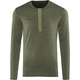 Bergans Henley Wool T-shirt Homme, seaweed melange